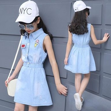 Top 9 Beautiful Frocks For 13 Year Old Girl With Pictures Styles At Life Girls Denim Dress Beautiful Frocks Kids Dress