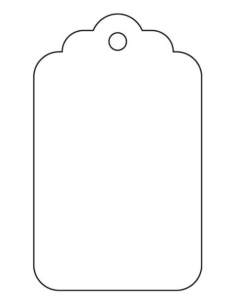 Large gift tag pattern. Use the printable outline for crafts, creating stencils, scrapbooking, and more. Free PDF template to download and print at patternuni