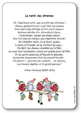 Poésie Le Matin Des étrennes Darthur Rimbaud Poésie