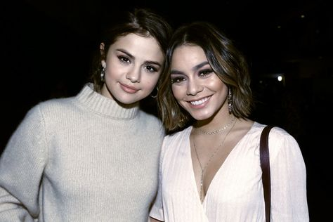 Selena Gomez and Vanessa Hudgens participate in the phone bank during 'One Voice: Somos Live! A Concert For Disaster Relief.'