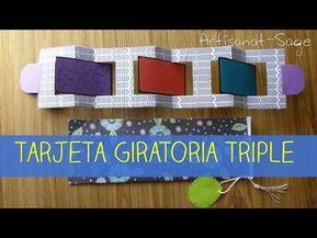 Tarjeta Giratoria Triple Triple Revolving Card Diy How To Youtube En 2020 Tarjeta Tarjeta Corazones Tarjetas Hechas A Mano Creativas