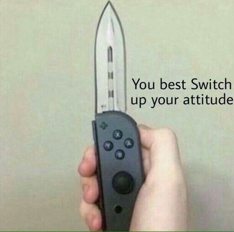 •grabs wii blade• ARE WE GONNA HAVE A FRICKN PROBLEM?!