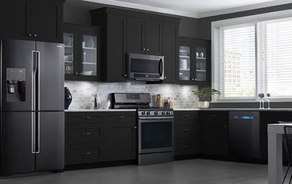 New Kitchen Ideas Black Appliances Stainless Steel 15 Ideas Kitchen Design Decor Kitchen Design Trends Black Kitchen Cabinets