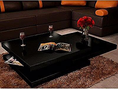 Coffee Table 3 Tiers High Gloss Black Stand Desk Living Room Side End Furniture Desk In Living Room Table Room