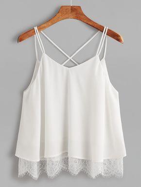 White Criss-Cross Cami