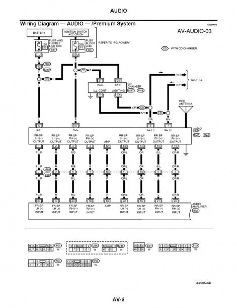 Stereo Wiring Diagram Nissan 2006 Nissan Altima Nissan Altima 2004 Nissan Maxima