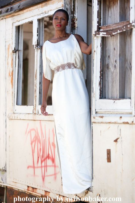 Organic Lace Wedding Dress Silk Beach Alternative Eco