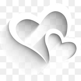 White Heart Shaped Elements Heart Shapes White Heart Free Graphic Design