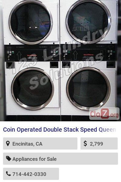 Coin Operated Double Stack Speed Queen Dryer Stt30nbcb2g2w01 120v