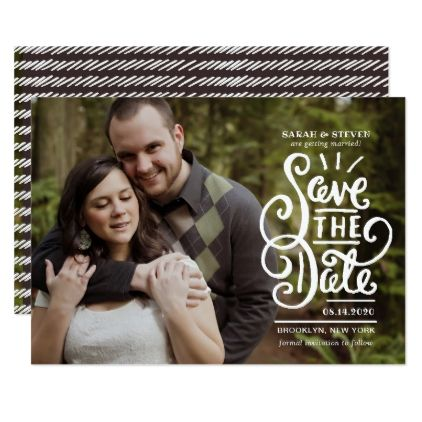 Bold Script Save The Date Card  Script Gifts Template Templates