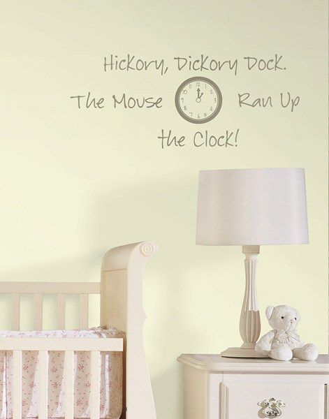 hickory dickory dock - wall decal quotes   landscape wall stickers