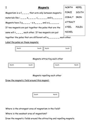 Science Worksheets For Grade 4 Science Worksheets Magnets