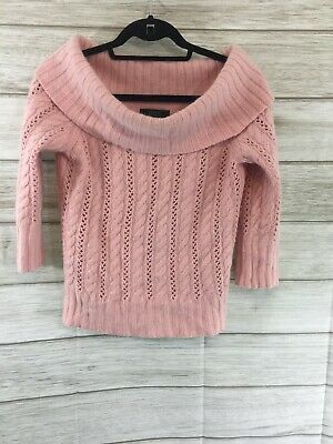 Details About Express Woman S Pink Wool Cashmere Blend 3 4 Sleeve Cowl Neck Sweater Small Cowl Neck Sweater Express Women Cowl Neck