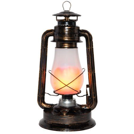 Wintergreen Lighting 15 5 Metal Led Decor Lantern With Electric Flameless Flickering Light Walmart Com Led Lantern Led Decor Led Curtain Lights