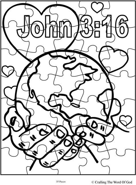 31++ For god so loved the world coloring page info