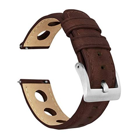 Barton Rally Horween Leather Straps - Integrated Quick Release Spring Bars- 316L Stainless Steel- Choose Color - 18mm, 19mm, 20mm, 21mm, 22mm, 23mm & 24mm Watch Bands | Jodyshop