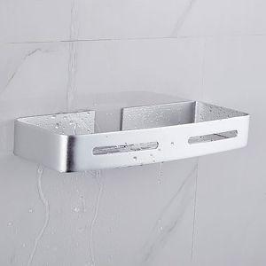 Autoadesivo Alluminio Aeronautico Nessun Danno al Muro per il Montaggio Per Bagno Cucina 1 Pezzi Nero Hoomtaook Bagno Doccia Mensola Doccia Organizzatore per Flaconi Senza Chiodo