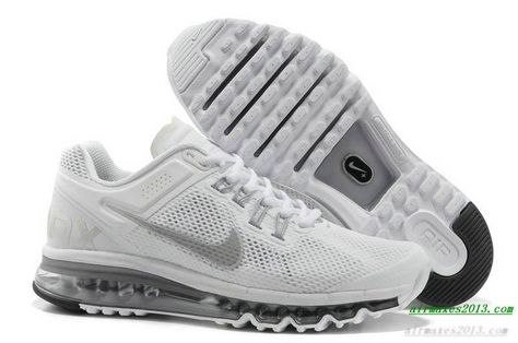 finest selection 87eea d070d 2013 Nike Air Maxes Mens Reflective Silver For Sale 554886 100