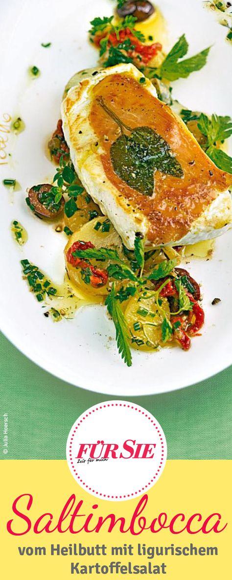 Exotische Heilbutt-Saltimbocca mit ligurischem Kartoffelsalat à la Poletto…