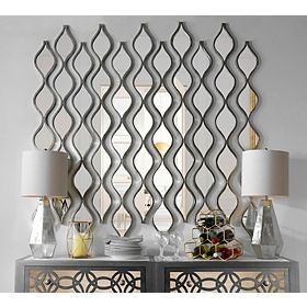Light Up Your Home With The Prismatic Glow Of Our Lila Silver Embossed  Honeycomb Mirror! This Decorative Mirror Adds Depth, Dimension, And Shine  To Any ...