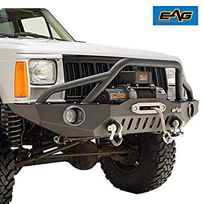 Amazon Com Eag Front Bumper With Led Lights And Winch Plate