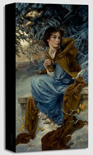 Heather EdwardsDig a Little Deeper Tiana From The Princess And The FrogHand-Embellished Giclee on Canvas Disney Fine Art