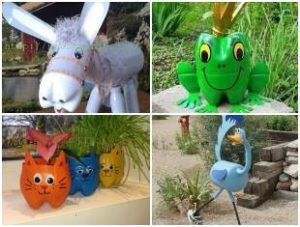 Bichinhos Com Garrafas Plasticas Para Jardim Garrafas Pet