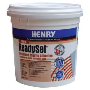 Henry 314 Ready Set Gallon Premixed Mastic Adhesive 12256 The Home Depot Thin Brick Veneer Adhesive Ceramic Tiles