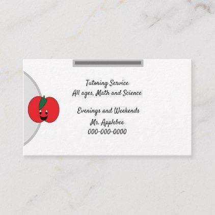 Customizable Little Apple Business Card 3 5 X2 Business Card Zazzle Com Apple Business Business Cards Business Template