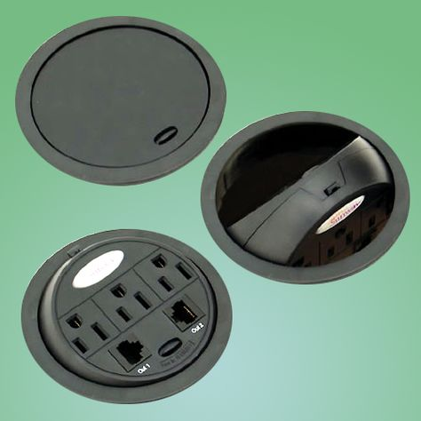 PowerTap pop-up Data Center brings the power to you! Flip it over when not in use & keep your desk looking neat & clean!