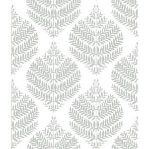 Roommates Hygge Fern Damask Grey White Vinyl Peelable Roll Covers 28 18 Sq Ft Rmk11511wp The Home Depot Peel And Stick Wallpaper Removable Wallpaper Hygge