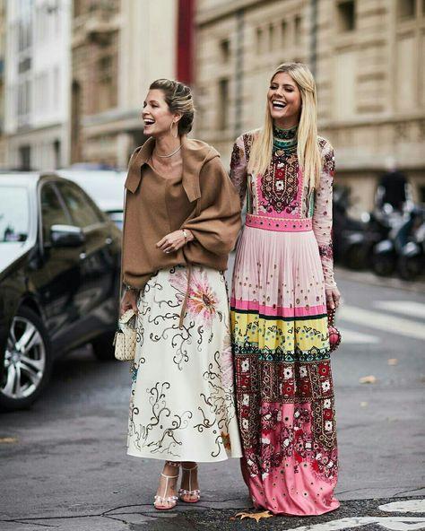 Dupla fashion. Vestido boho rosa. @stylesightworldwilde