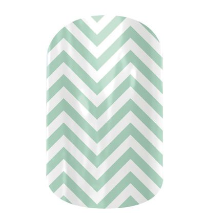 Mint Green Chevron nail wraps by Jamberry Nails