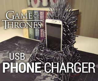 Iron Throne Phone Charger Game Of Thrones Gifts Game Of Thrones