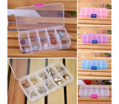 10 Compartment Craft Parts Storage Box 4 Colors In 2020 Plastic Box Storage Jewellery Storage Nail Art Hacks