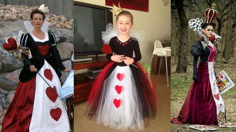 DIY Homemade Queen Of Hearts Costume Ideas