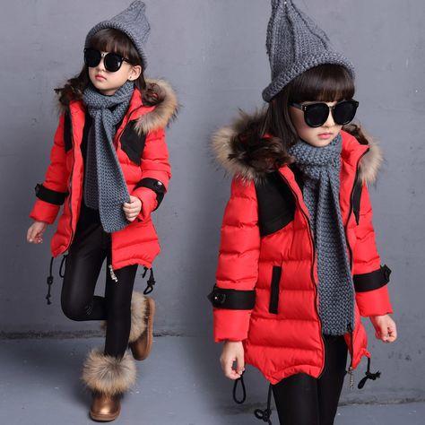 8920ba19623 Купить товар 3 4 5 6 7 8 9 10 11 Лет Осень Зима куртка Для Девочек Теплые…