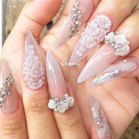 Luxury and Chic Pointy Nail Designs for Trendy Look ★ See more: naildesignsjou. - Nail Design Ideas, Gallery of Best Nail Designs
