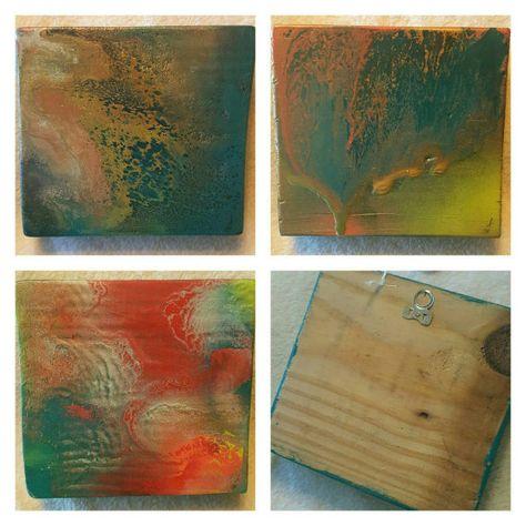 Spray Paint Art On Wood