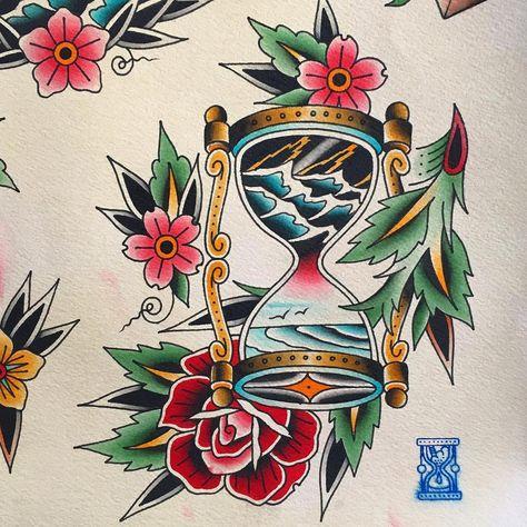 tattoodesign #hourglass #hourglasstattoo...