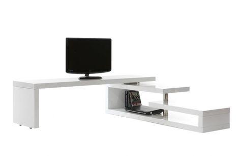 Meuble TV design laqué pivotant MAX V2 | Salons and Tables