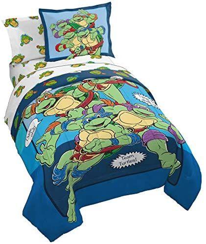 Teenage Mutant Ninja Turtles Tmnt Bedding Comforter Set With Sheets And Plush Pillow Toy Twin Price 89 30 Fr Tmnt Bedding Comforter Sets Bed Comforters