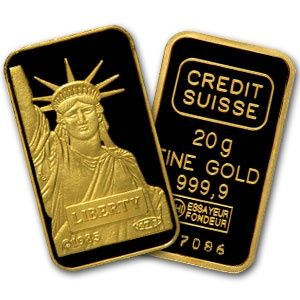 Credit Suisse 20 Gram Gold Bar 9999 Fine Gold Bullion Bars Buying Gold Credit Suisse