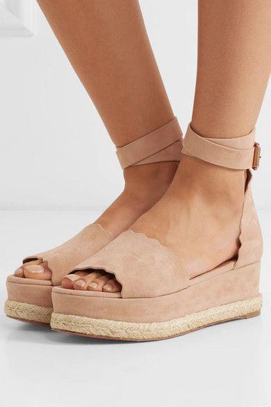 de1c5bae97b Chloé Lauren Suede Espadrille Platform Sandals in 2019 | Fun ...