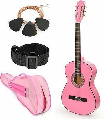 Pink Wood Guitar With Case And Accessories Great Gift For Gifts For Kids Guitar Great Gifts