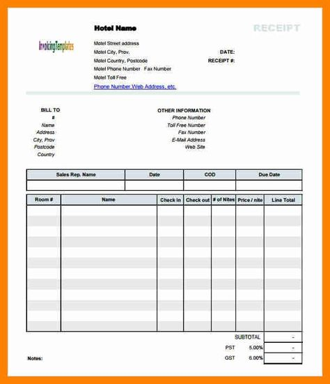 lodge bill format in word 8+ hotel bill invoice format beverage - hotel invoices