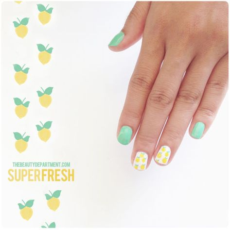 A fresh squeezed mani monday tutorial is up on TBD.