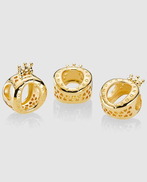 pandora charm corona oro