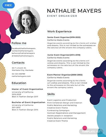 A Creative Resume Template That Is Easy To Edit And Free To Download This Makes Use Of Creative Resume Template Free Creative Resume Templates Creative Resume