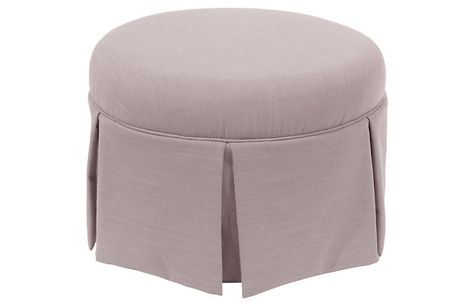 Prime Liza Skirted Ottoman Lilac Linen Ottomans Benches Gmtry Best Dining Table And Chair Ideas Images Gmtryco